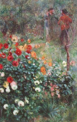Pierre Auguste Renoir Der Garten in der Rue Cortot  Montmartre   Paris