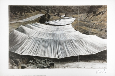 Christo Over the River III Above, handsigniert