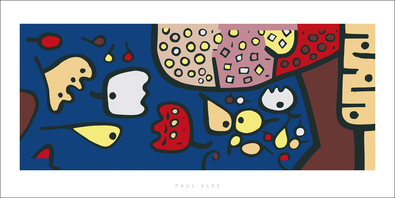 Paul Klee Fruechte auf Blau