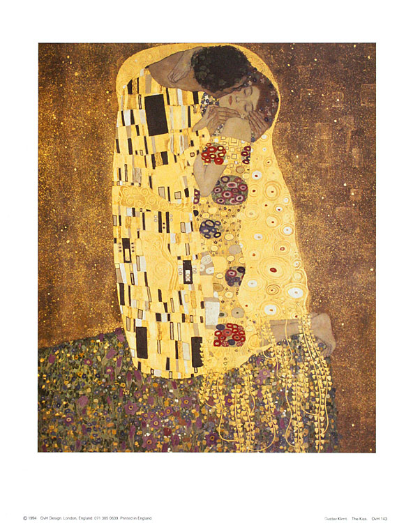 gustav klimt der kuss poster kunstdruck bild 36x28cm ebay. Black Bedroom Furniture Sets. Home Design Ideas