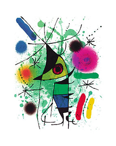 joan miro der singende fisch poster kunstdruck bild offset 100x70 cm ebay. Black Bedroom Furniture Sets. Home Design Ideas