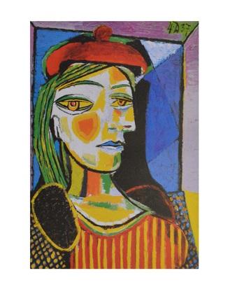 Pablo Picasso Femme au beret rouge (klein)