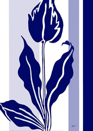 Hanna Vedder 2er Set 'Blue & White I + II'