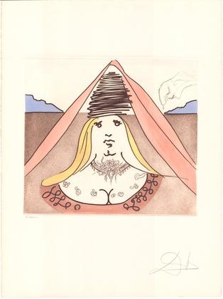 Salvador Dali Don Quijote (B) - Die Dame Dulcinea