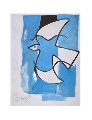 Georges Braque L Oiseau bleu et gris