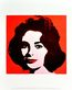 Andy Warhol Liz (on red) 1963