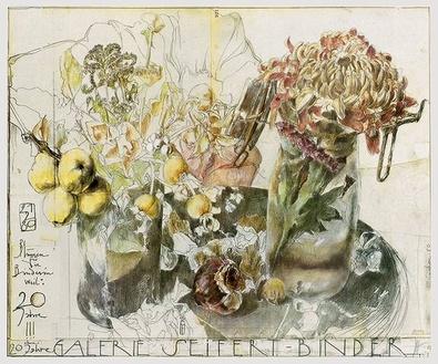 Horst Janssen Blumen Seifert-Binder handsigniert