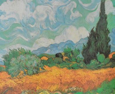 Vincent  van Gogh Zypressen