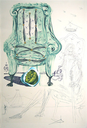 Salvador Dali Imaginations Armchair