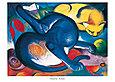 Franz Marc Zwei Katzen blau und gelb
