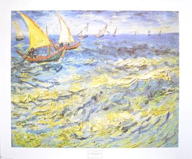 Vincent van Gogh Fischerboote auf dem Meer bei Saintes-Maries