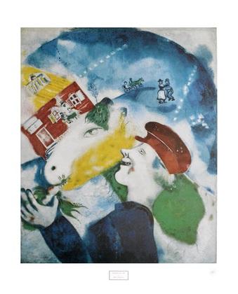 Marc Chagall Ich Und Das Dorf Poster Kunstdruck Bei Germanposters De