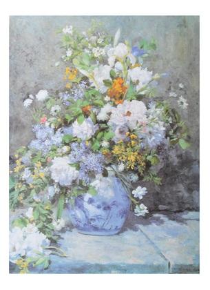 Pierre Auguste Renoir Grande vaso di fiori
