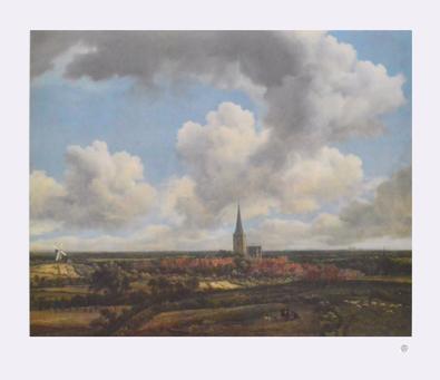 Jacob van Ruisdael Flachlandschaft mit Kirchdorf