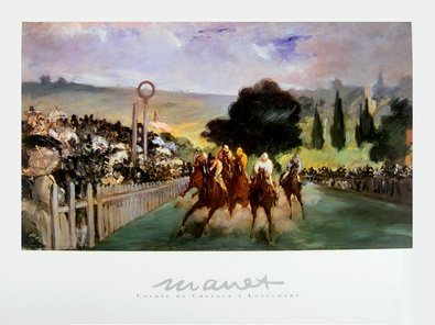 Edouard Manet Course de Chevaux a longchamp