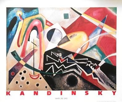 Wassily Kandinsky White Zig Zag