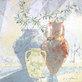 Kirchner karsten stillleben mit vasen und olivenzweig handsigniert medium