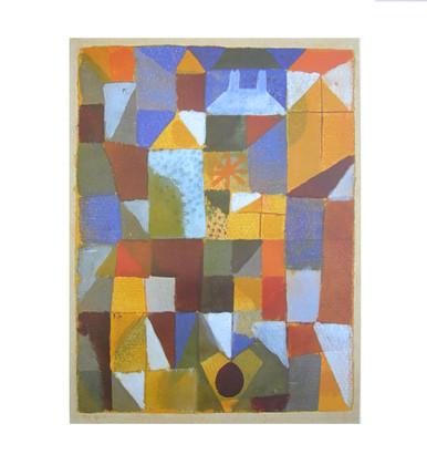 Paul Klee Staedtische Komposition mit gelbem Fenster