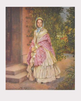 Adolph Menzel Frau Clara Schmidt von Knobelsdorff