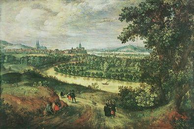 Alexander Keirincx Landschaft mit der Stadt Cleve