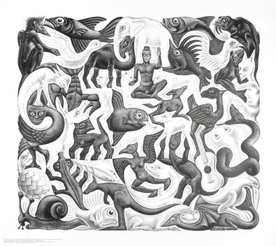 MC Escher Flaechenfuellung II