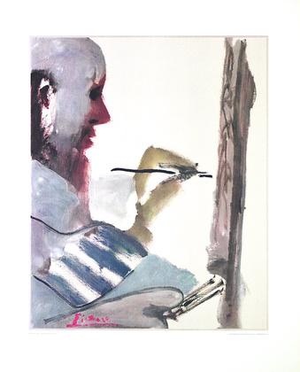 Pablo Picasso Der Maler bei der Arbeit