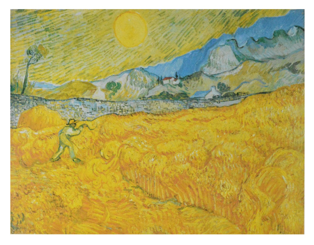 Vincent van Gogh Weizenfeld hinter dem Hospital Saint-Paul (Die ...