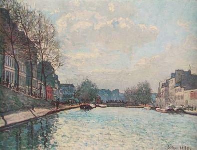 Alfred Sisley Ansicht vom Kanal St Martin