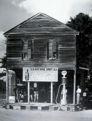 Bettmann Southern Crossroad Grocery Store and gas pump