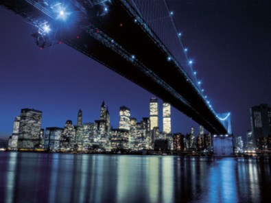Henri Silberman Brooklyn Bridge at Night