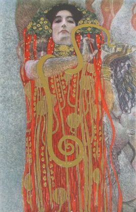 Gustav Klimt Hygieia (Detail aus Medizin)   1907