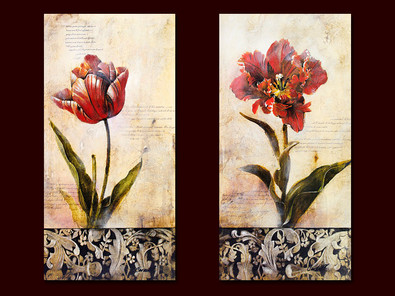 Carnell 2er Set 'Botanical Tulip I + II'