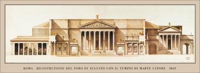Roma Foro di Augusto  1869
