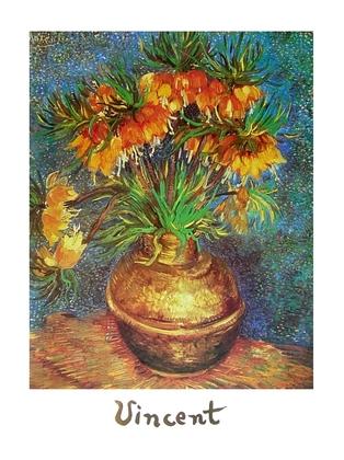 Vincent van Gogh Fritillairs in einer Kupfervase