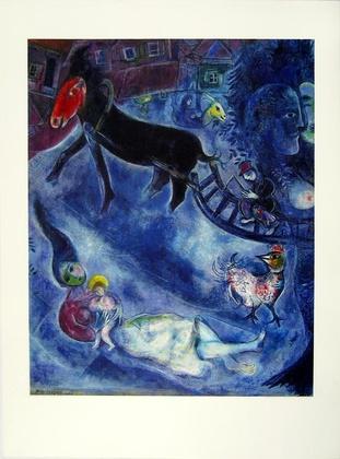 Marc Chagall Madonna mit dem Schlitten