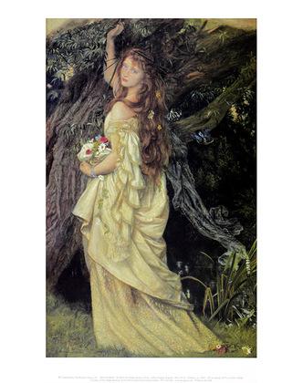 Arthur Hughes Ophelia, 1865