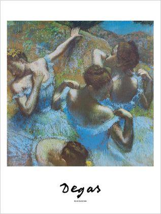 Edgar Degas Blaue Taenzerinnen