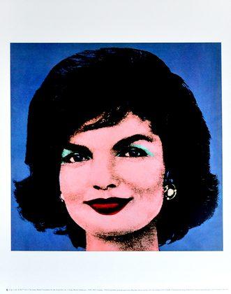 Andy Warhol Jackie 1964 (on blue)