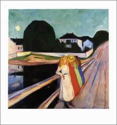 Edvard Munch vier Mädchen auf der Brücke 1905