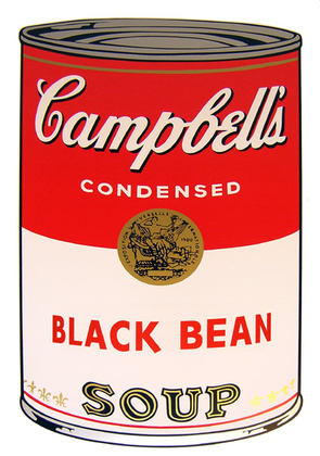 Andy Warhol Campbells Soup - Black Bean
