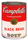 Warhol andy campbells soup black bean medium