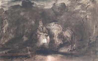 Rembrandt Ruhe auf der Flucht nach aegypten