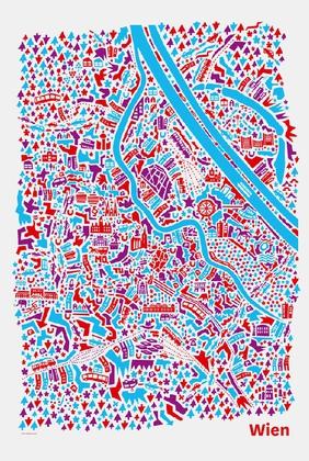 Wien Stadtplan Poster Vianina