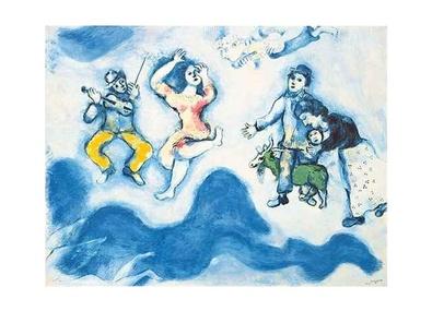 Marc Chagall Die Gefaehrten Charlots