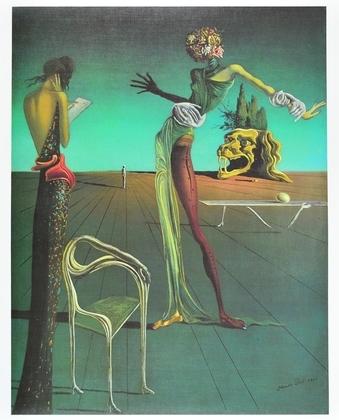 Salvador Dali Die Frau mit dem Rosenkof