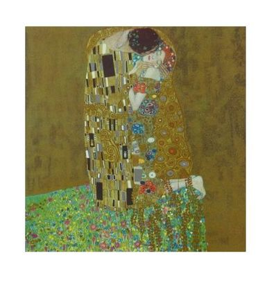 gustav klimt der kuss 41x41cm poster kunstdruck bei. Black Bedroom Furniture Sets. Home Design Ideas
