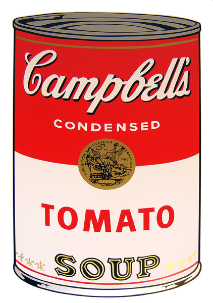 andy warhol campbells soup tomato grafik bei. Black Bedroom Furniture Sets. Home Design Ideas