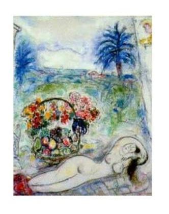 Marc Chagall Akt mit Blumenkorb