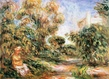 Renoir auguste woman in a landscape medium