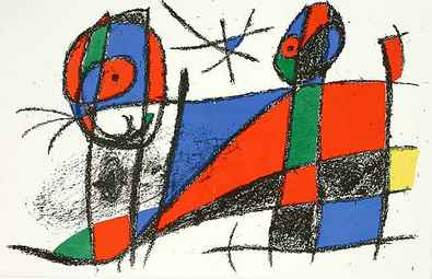 Joan Miro Volume 2 Blatt 6 unsigniert